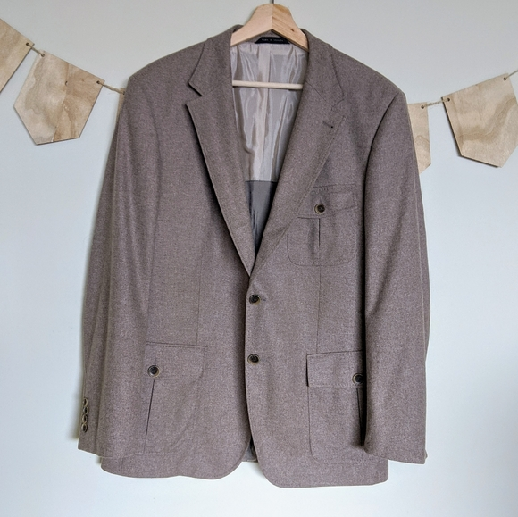 Hugo Boss Other - Hugo Boss Brown Two Button Blazer 42R